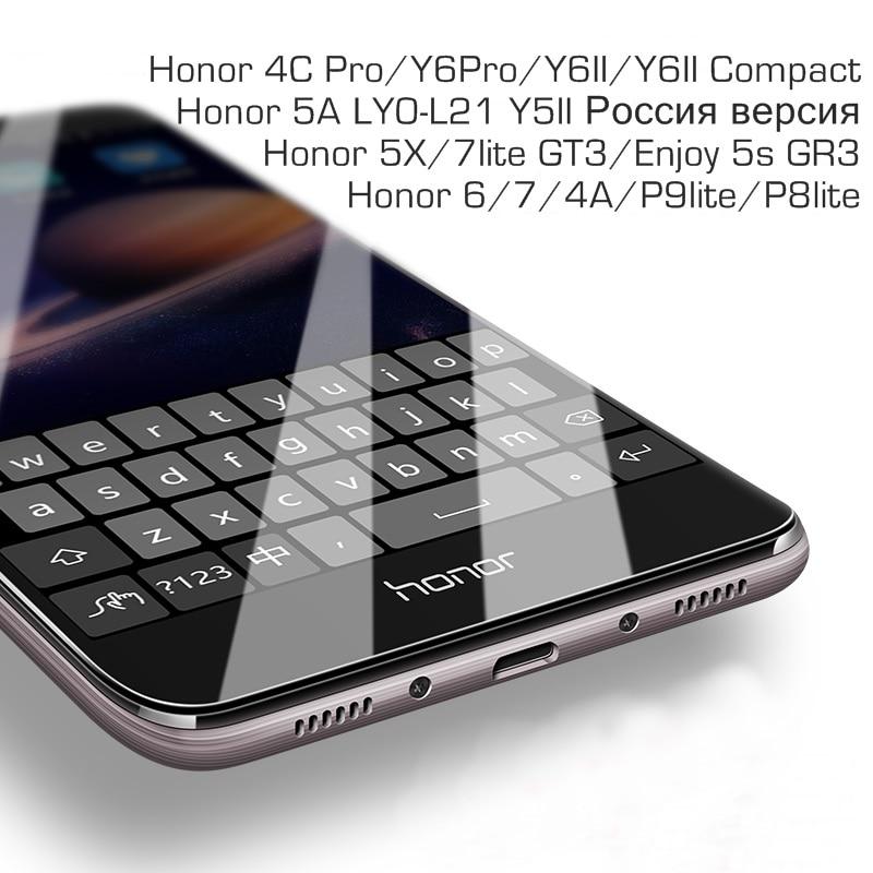 Закаленное стекло для Huawei Honor 5A LYO-L21 Y5II Y6 II 4C Pro, Защитная пленка для экрана Honor 4A 5C 5X Enjoy 5S GR3 P8 P9 Honor 6 7 Lite