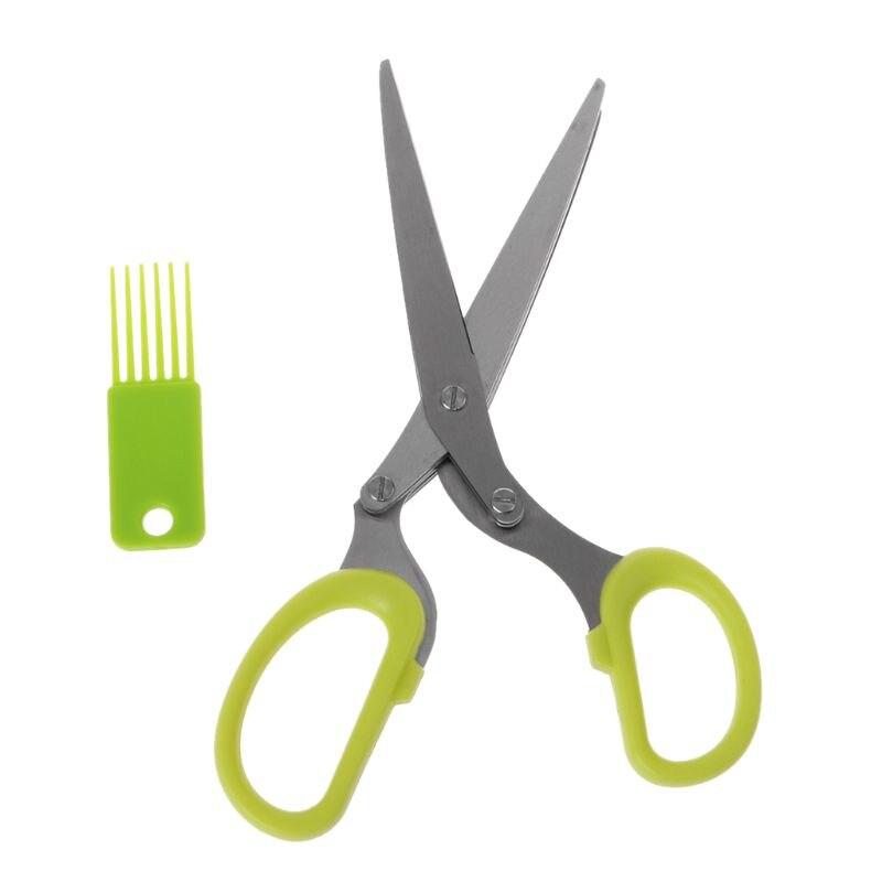 ¡Oferta! nuevas tijeras de hierbas 5 cuchillas de acero inoxidable cortador artesanal