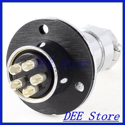 Brida de montaje conector de aviación adaptador de enchufe 19mm de diámetro GX20 5 Pin