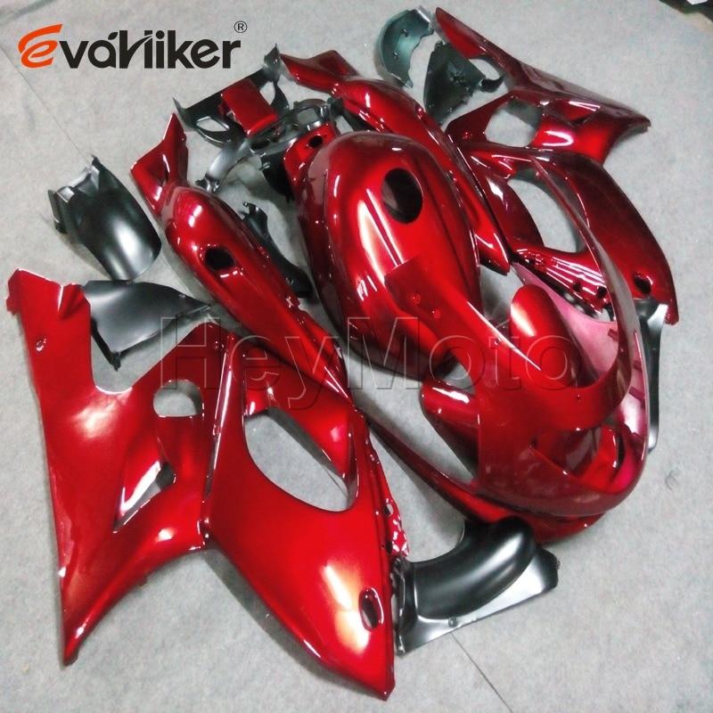 ABS fairings ل YZF600R 1997 1998 1999 2000 2001 2002 2003 2004 2005 2006 2007 الأحمر دراجة نارية panelsH3