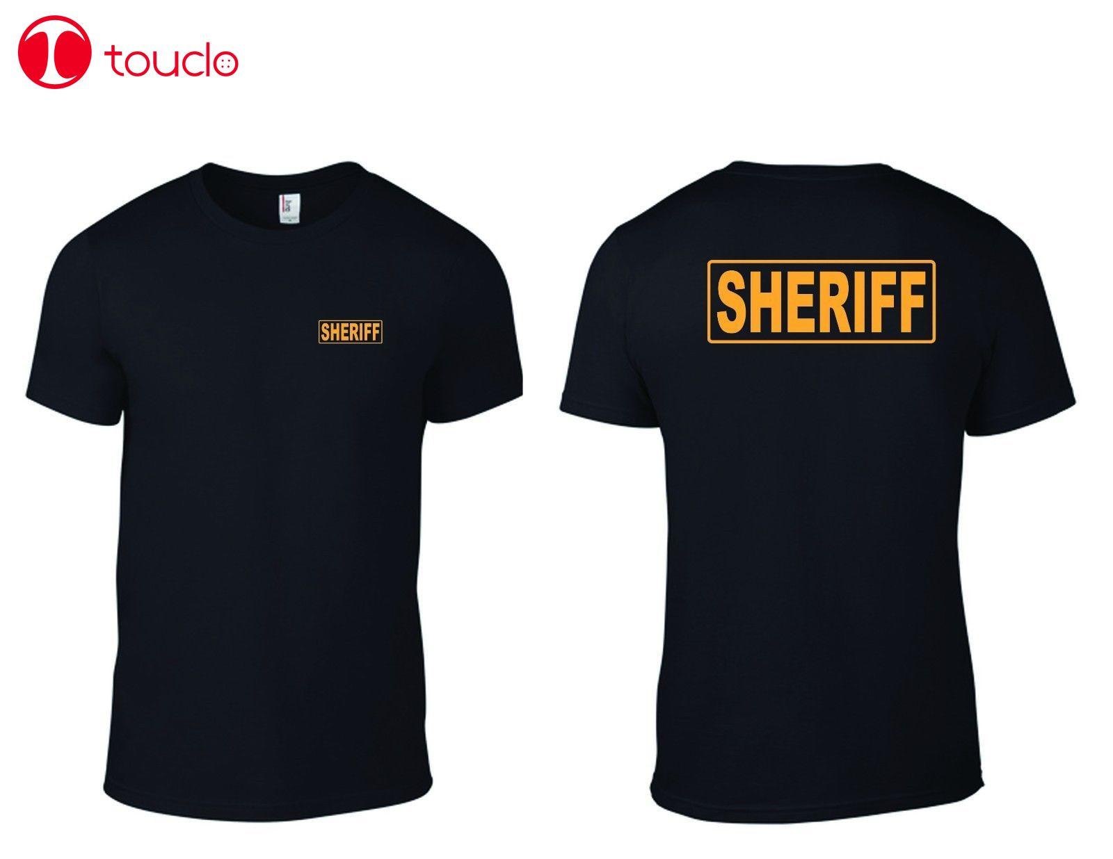 2 Side 2019 New Men T-Shirt Sheriff Officer T-Shirt / Law Enforcement Sheriff T-Shirts Sweater