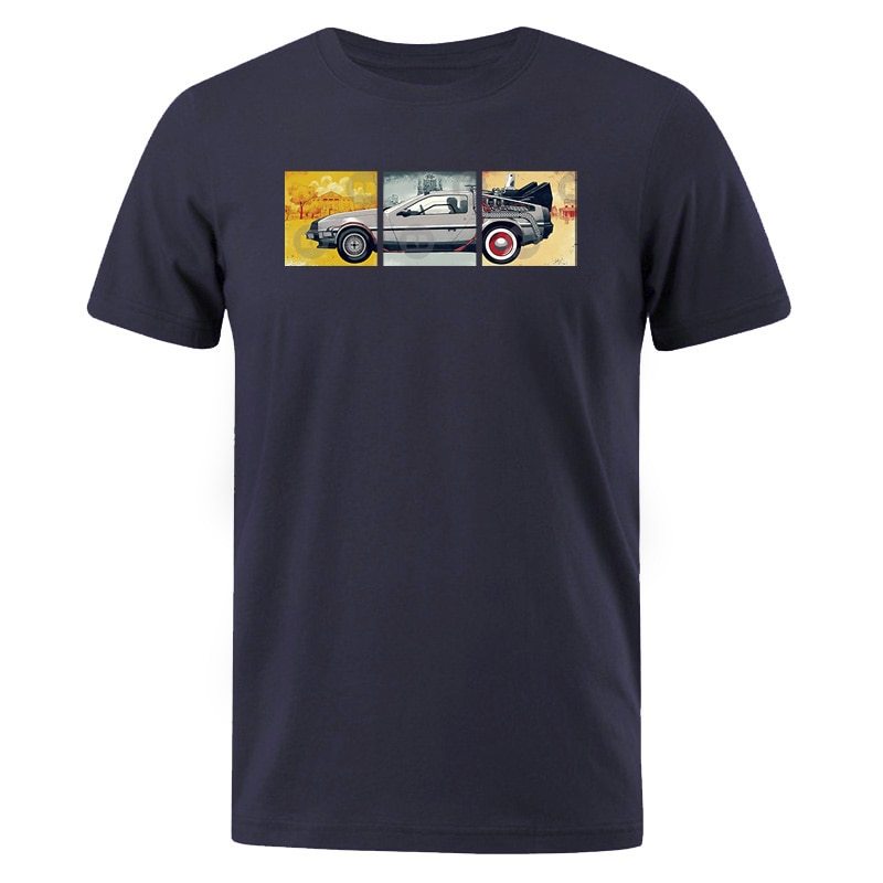 Camiseta de algodón de verano para hombre/mujer, Camiseta clásica Serie de películas de vuelta al futuro para hombre, camisetas casuales, camisetas de manga corta