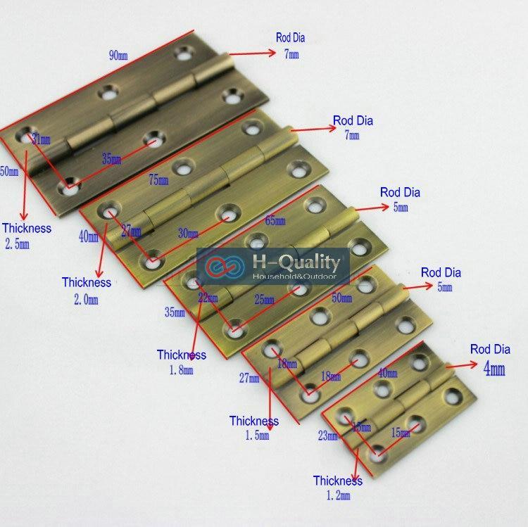 Free Bronze Screws10PCS/Lot Door Hardware Antique 1.5 Inch (38MM) Long Solid Hinge,  Hinge
