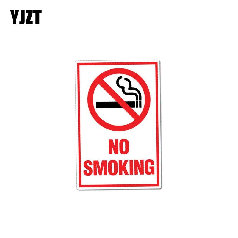 YJZT 8,2 см * 12,7 см креативная забавная предупреждающая Автомобильная наклейка без курения Наклейка ПВХ 12-0998