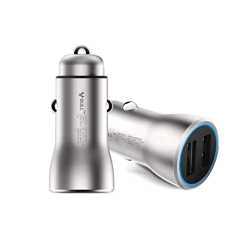 IF Award Winner BULL Quick Charge 3.6A/18 Вт Латунное двойное USB Автомобильное зарядное устройство 1 шт. умное быстрое и безопасное зарядное устройство для IPhone IPad Samsung