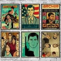 Affiches murales Archer  autocollants muraux retro  imprimes daffiches haute definition pour la decoration de la maison du salon