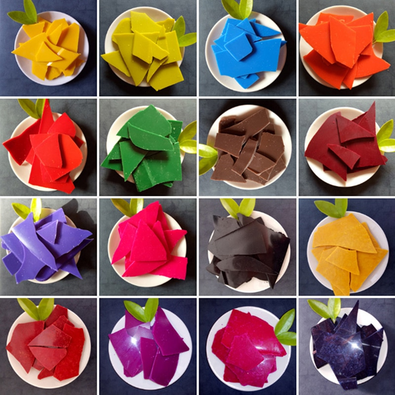 Bougie de bricolage 5g soi-même   Peinture à la cire pour teinture, huile de soja, 2KG, fournitures de fabrication de bougies Pigments avec des moules pour faire des bougies parfumées