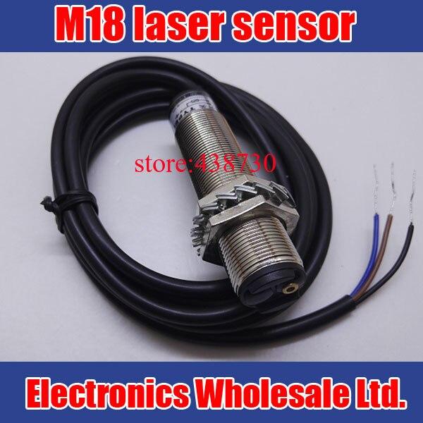 M18 de sensor de láser/0-80 CM láser fotoeléctrico interruptor/DC10-30V de tipo difuso en rojo fotosensor de luz