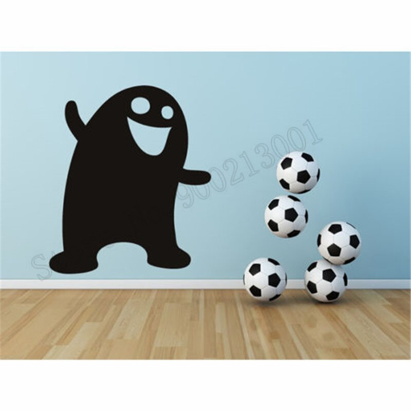 Pegatina de monstruo feliz para decoración de pared, decoración de Halloween, póster para dormitorio infantil, Mural extraíble de vinilo, Mural ornamental LY568