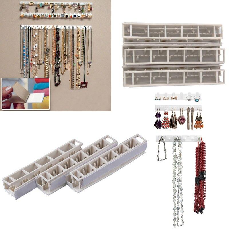 Expositor de joyas, collar, pendiente, pulsera, organizador, soporte de exhibición, colgador de pared para joyería #85914
