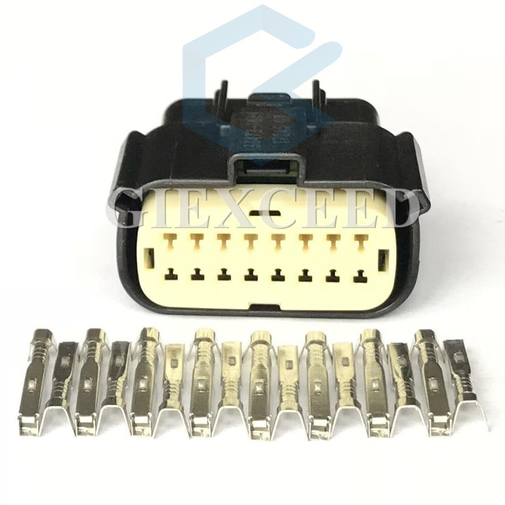 16 Pin 33472-1601 33482-1601 Headlight Socket Automotive Lamp Light Connector For Ford Focus Mondeo EDGE Fiesta