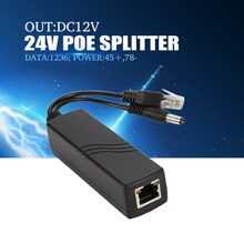 YiiSPO SPOE 24 V input 12 V output POE Splitter 100 meterstransmission voor ip camera geen behoefte power adaper
