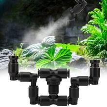 Podwójna głowica 360 ° krajobraz las deszczowy gady zbiornik dysza inkubator Mini Spray płazy rośliny Terrarium zraszacz mgły