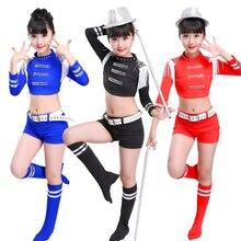 Costumes de danse de Jazz pampilles pour enfants, vêtements de scène 3 couleurs pour filles, style Hip-hop