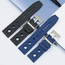 Montre homme avec accessoires 22mm 24mm bracelet caoutchouc pour Breitling sangle Navitimer Avengers étanche Silicone bracelet