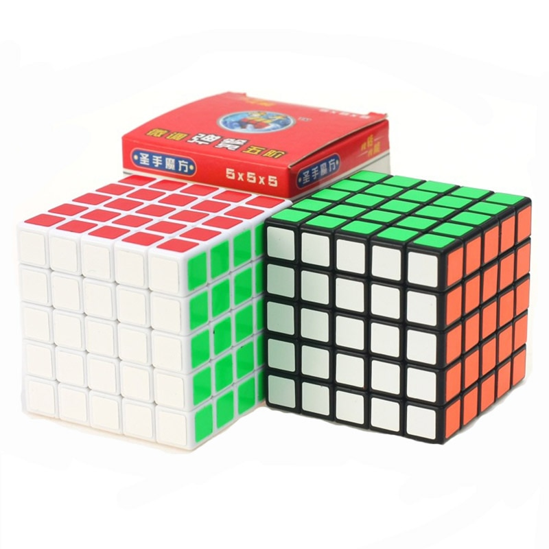 New Magic Cube  Classic 5x5x5 black White Toy PVC Sticker Block Puzzle Speed Cube Kids Toys  Magic  Cubo For Children Gift