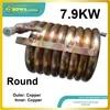 מחליף חום צינור נחושת 7.9KW חיצוני ופנימי מתאים 22000BTU גלילה מדחס מזגן עם ZR22K3E