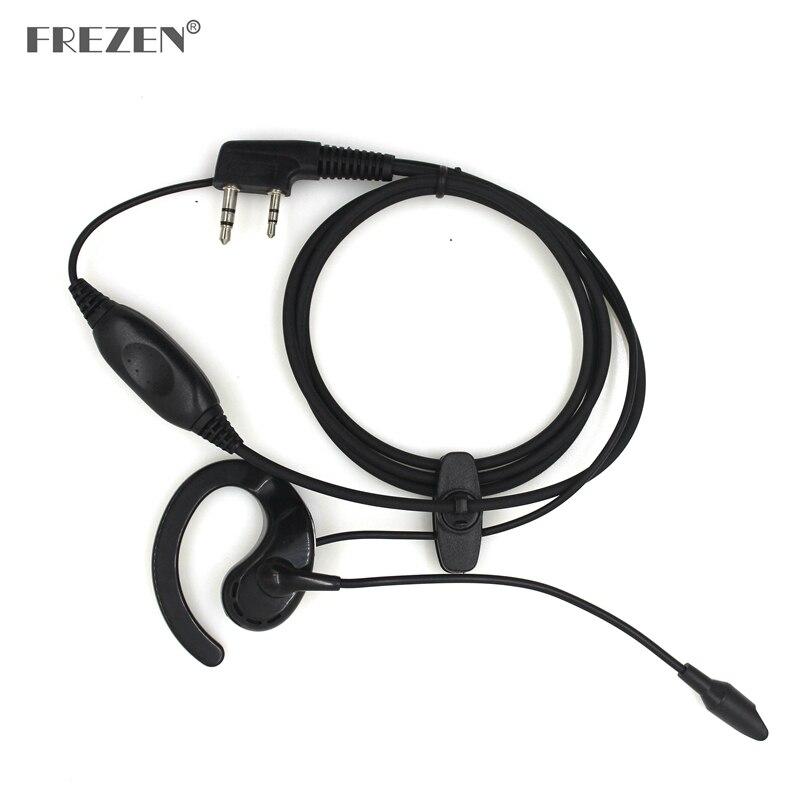 Auriculares walkie-talkie con micrófono y PTT de alambre grueso auricular para Baofeng Walkie Talkie CB Radio UV-5R UV B5 GT-3TP