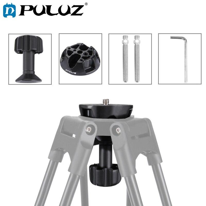 PULUZ Чаша адаптер для жидкости головки штатива 75 мм Половина шарика плоский 75*75*100 мм DSLR Rig камера металлическая чаша адаптер