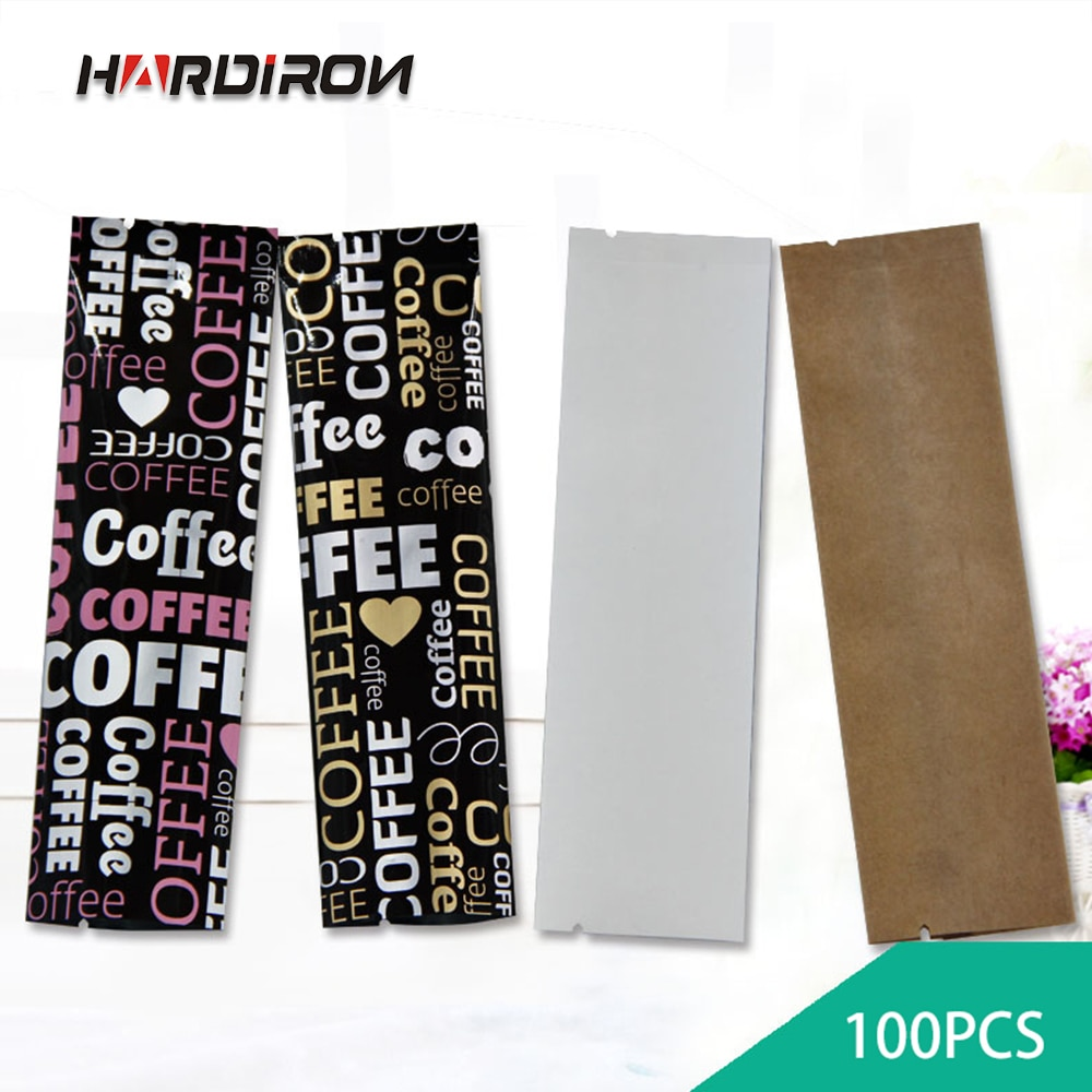 Espesar varios tamaños de papel de aluminio colorido bolsa de embalaje café té de la leche flor té fruta en polvo Kraft bolsa pequeña