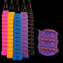 11 couleurs anti-dérapant raquette sur poignée rouleau Tennis Badminton courge poignée bande Badminton raquette sueur bande