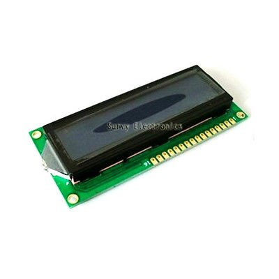 16x2 1602 HD44780 Módulo de pantalla de caracteres LCM luz negra amarilla Nuevo LCD
