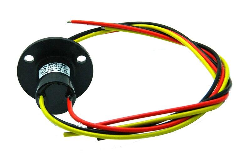 1 PC 3 canaux 20A Mini bague collectrice compacte Capsule conductrice connecteur de glissement OD22mm bague collectrice Rotative pour bras automatique