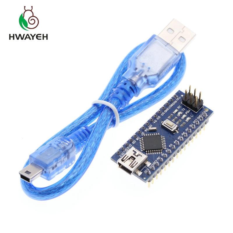 Мини USB Nano V3.0 ATmega328P CH340G 5V 16M Микроконтроллер плата для arduino NANO 328P NANO 3,0