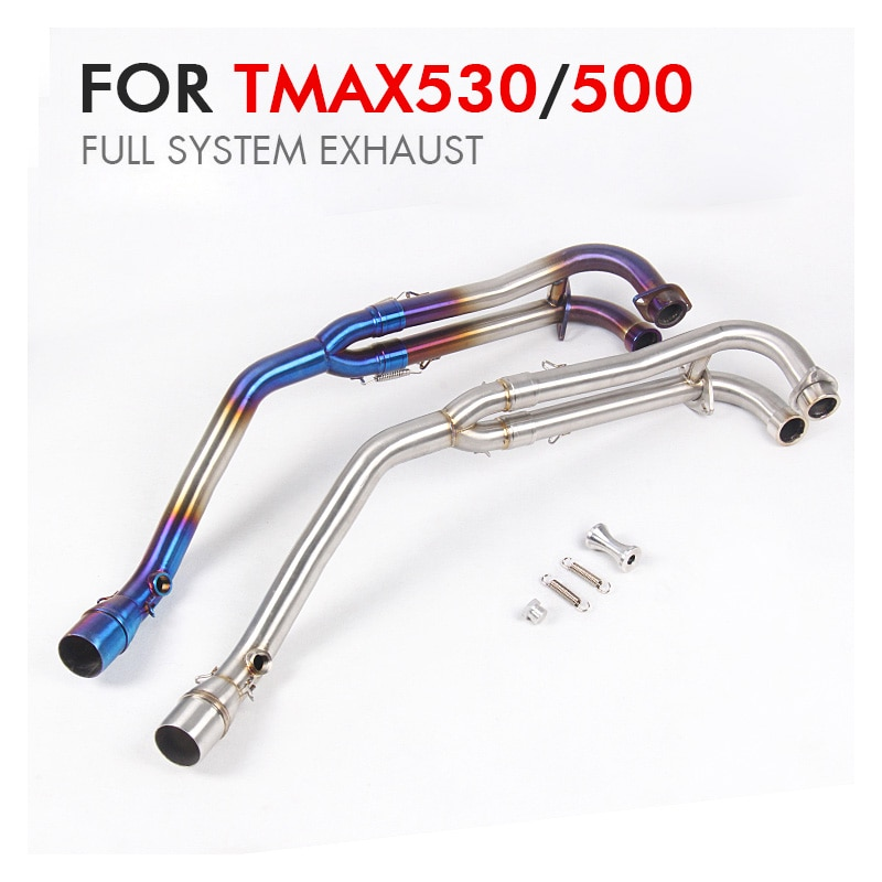 TMAX530 500 полная система 51 мм мотоциклетная выхлопная труба глушителя escape moto из нержавеющей стали средняя труба для Tmax530 tmax 500
