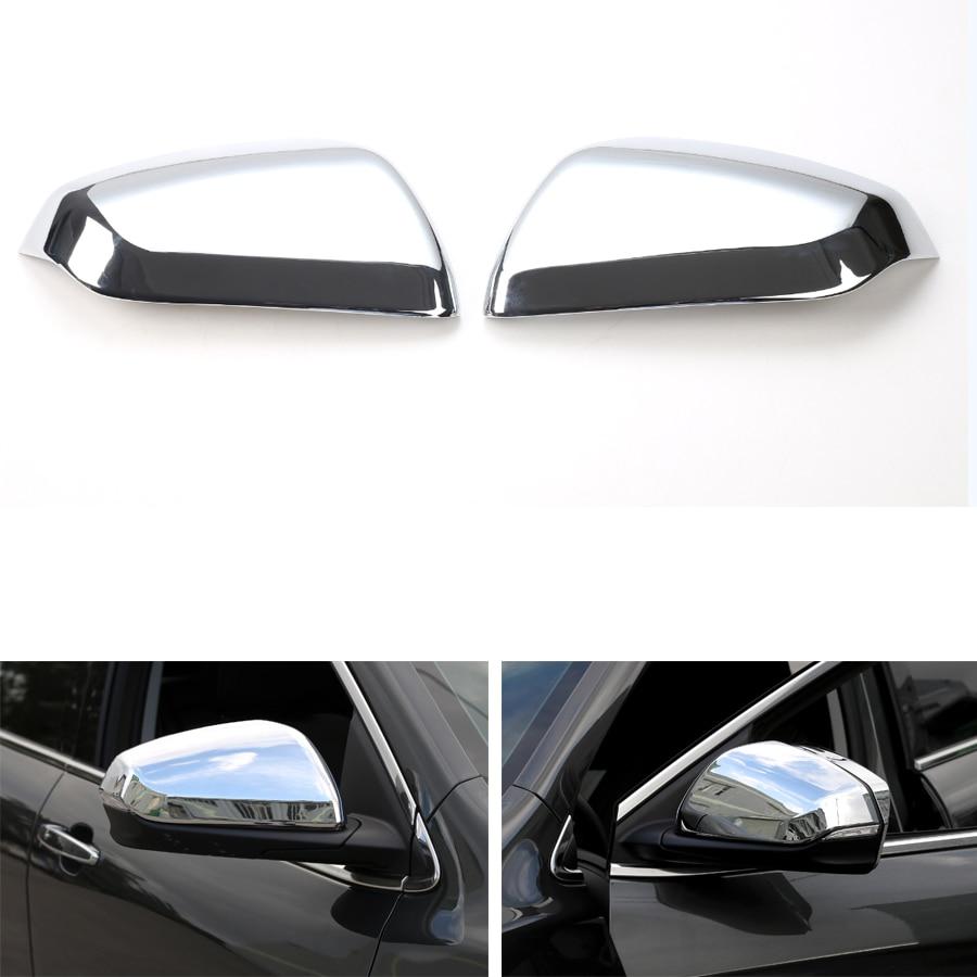 YAQUICKA 2 unids/set Exterior del coche cubierta embellecedora de espejo retrovisor de estilo para Chevrolet Equinox 2017 + coche cubre ABS