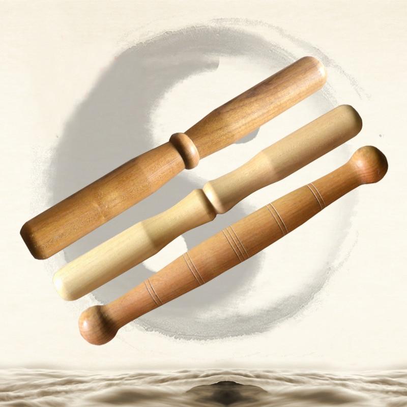 Tai Chi Qigong Stick Martial Arts Taiji Ruler Kungfu Bang Polished Solid Wood Exercise Equipment Beginner Wooden