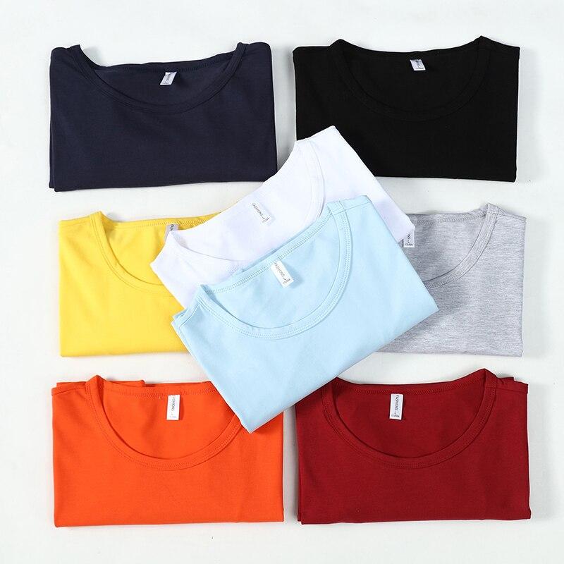 Liseaven 8 Colors Basic tshirt Men Cotton T-Shirts Solid Color Short Sleeve Male T Shirt O-Neck Tops&Tees