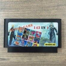 Super jeu 143 en 1 liste complète aucune répétition 8 bits 60 broches Console cartouche livraison directe!