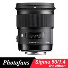 Objectif Sigma 50/1. 4 pour objectif artistique Nikon 50mm f/1.4 DG HSM