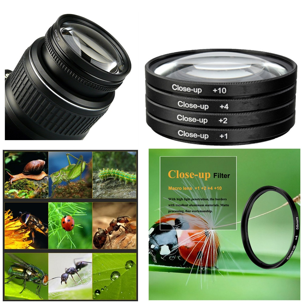 Close Up Filter Set & Case (+1+2 +4 +10) for Olympus OMD EM5 OM-D E-M5 Mark II III 2 3 with 14-150mm f/4.0-5.6 II Lens Camera