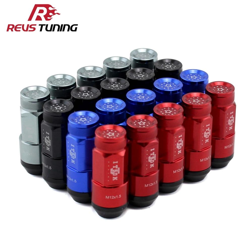 Azul/rojo/gris/Negro M12x1.5 M12x1.25 ITSOK piezas de carreras Race Rim tuercas de bloqueo
