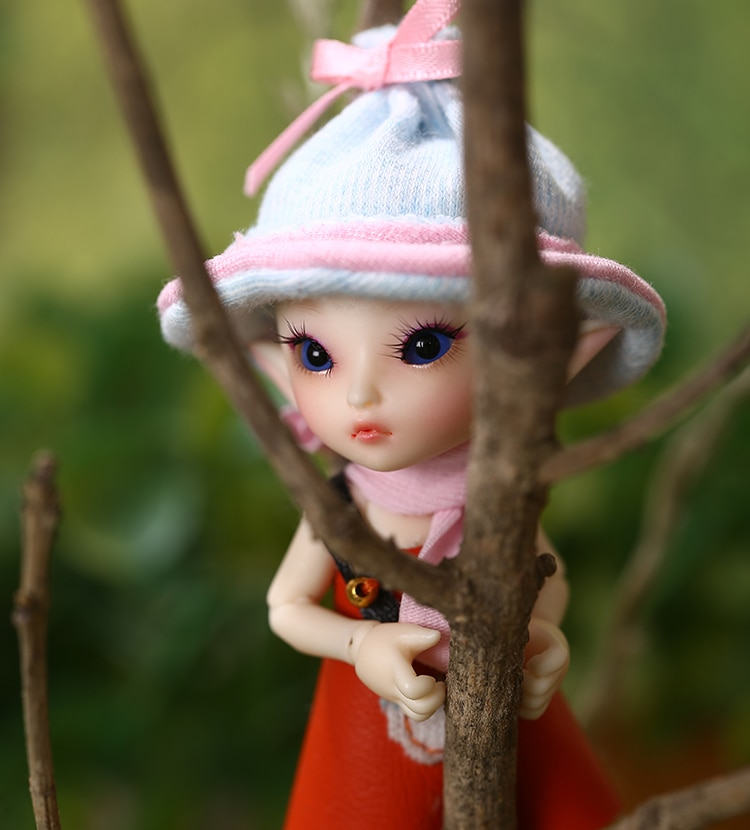 Freeshipping Fairyland Fl Realpuki Roro Doll Bjd 1 13 Pink Smile Elves Toys For Girl Tiny Resin Jointed Doll Dolls Aliexpress