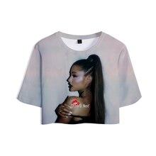 T-shirt femme, vêtements Sexy court, Ariana, Grande récolte, 2019, offre spéciale, drop shopping, Grande taille, décontracté