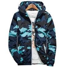 Hommes printemps été vestes à capuche réfléchissant mode Camouflage imperméable coupe-vent Bomber veste nouveau Style Camouflage veste