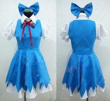 Touhou Project Cirno Cosplay kostium pełny (zestaw) cos sukienka na zamówienie bezpłatna wysyłka