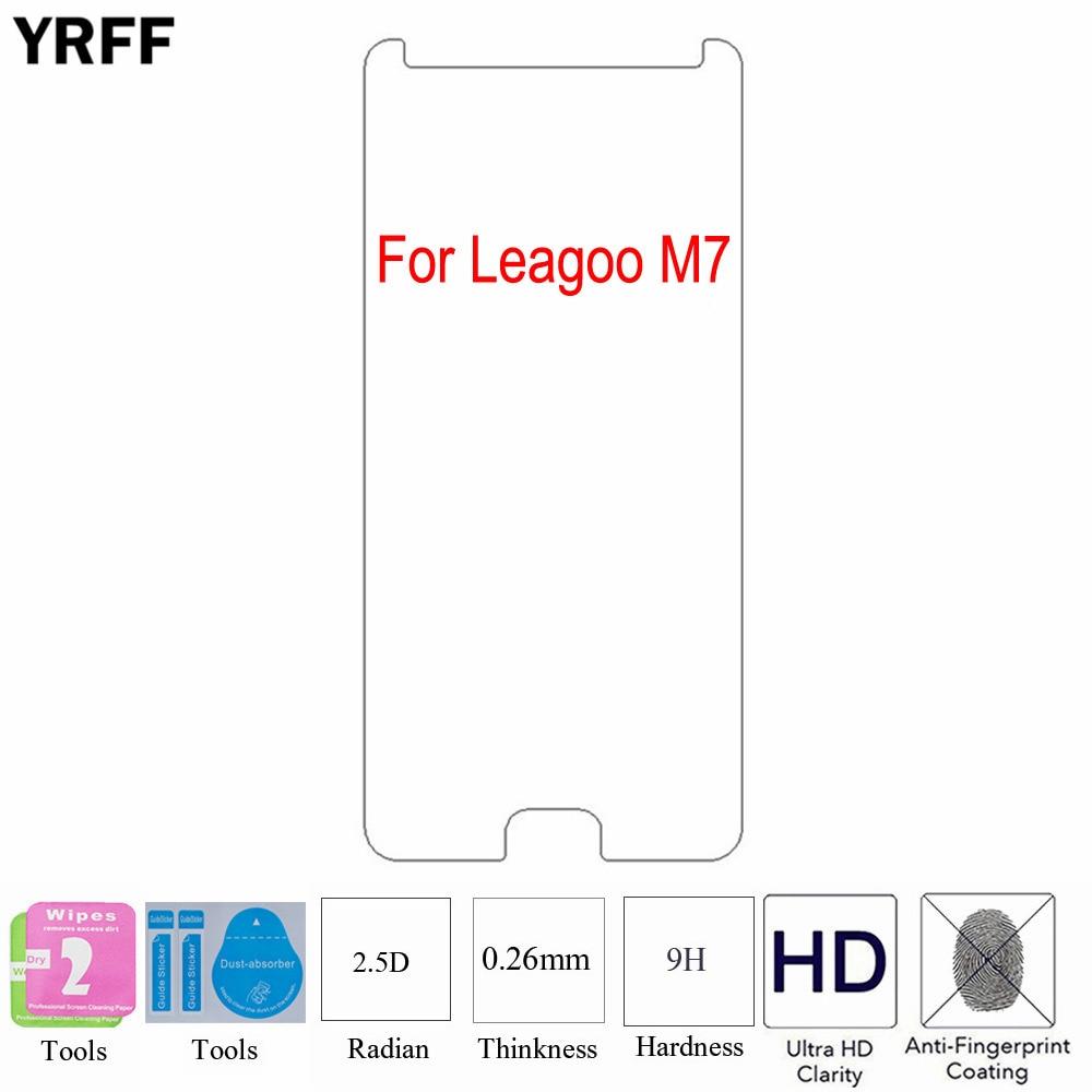 2 uds 2.5D 0,25mm 9H para Leagoo M8 Pro M7 protector de pantalla de vidrio templado película protectora para Leagoo M7 M8 Pro herramientas gratis