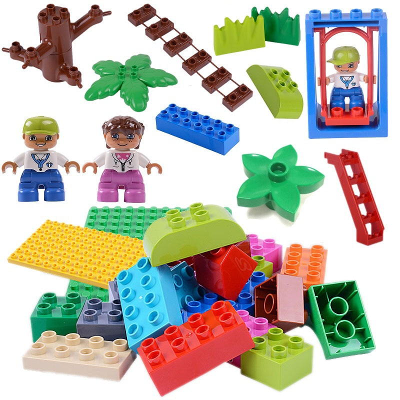 Big Size Building Blocks Accessories Compatible with DIY Block Parts Figure Building Maze Race Run T