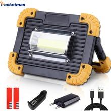 Lampe de travail COB LED lanterne Portable étanche 4-Mode projecteur Portable durgence projecteur Rechargeable pour lumière de Camping