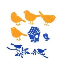 birds in branch metal die cuts cutting dies scrapbooking embossing folder suit for cutter fustella die cutter