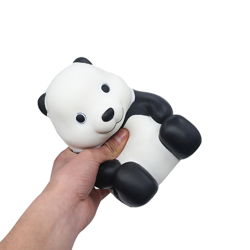 New pu slow rebound toy squishy big panda early education show decompression squeeze venting toys enlarge