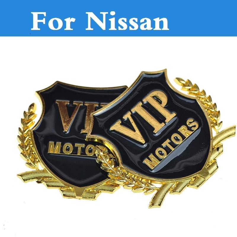 New D VIP Chrome Metal Chrome Badge Sticker Emblem For Nissan Otti (Dayz) Pathfinder Patrol Pino Pixo President Primera Pulsar