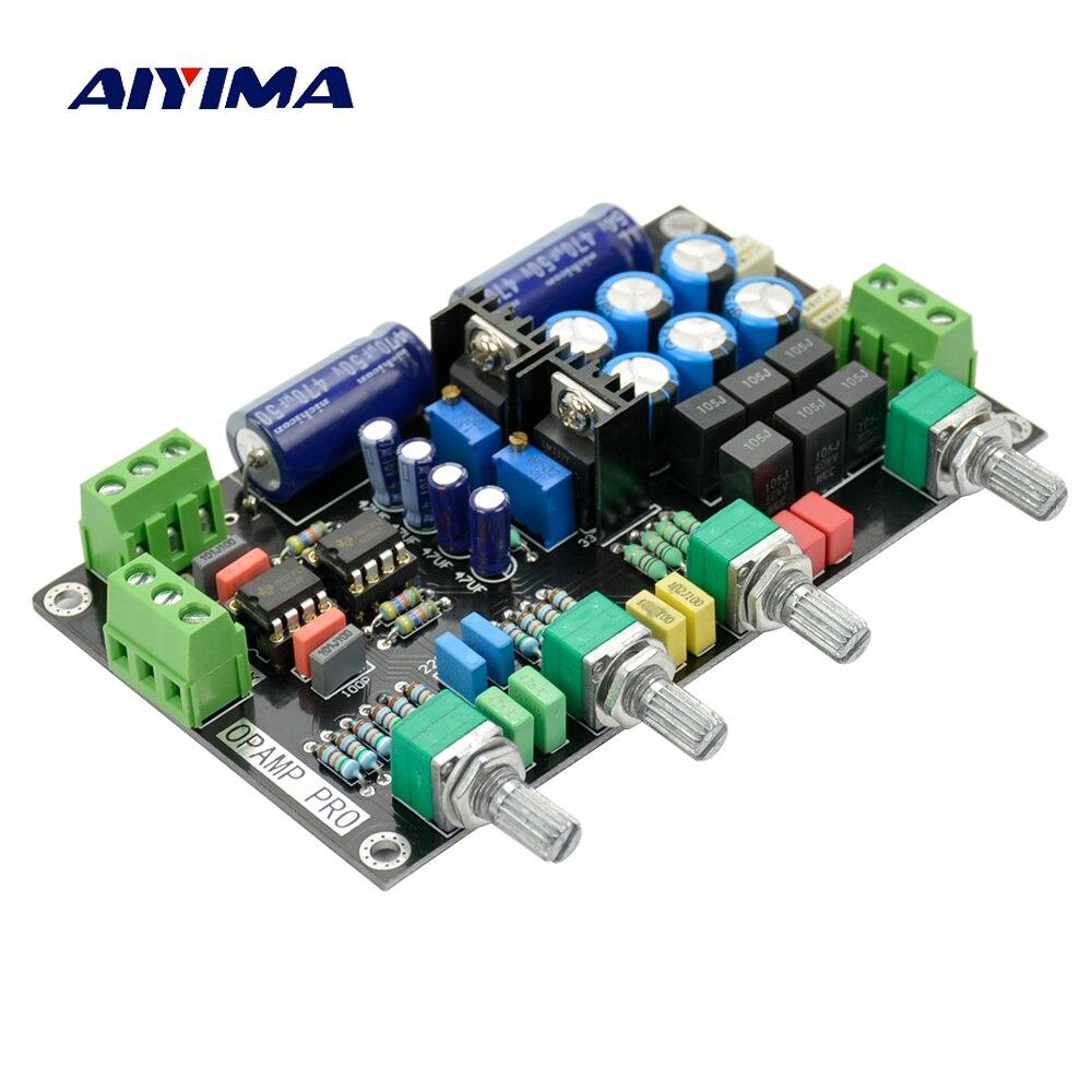 Aiyima ne5532 tone preamp board OP-AMP amplificador de alta fidelidade placa controle de tom volume