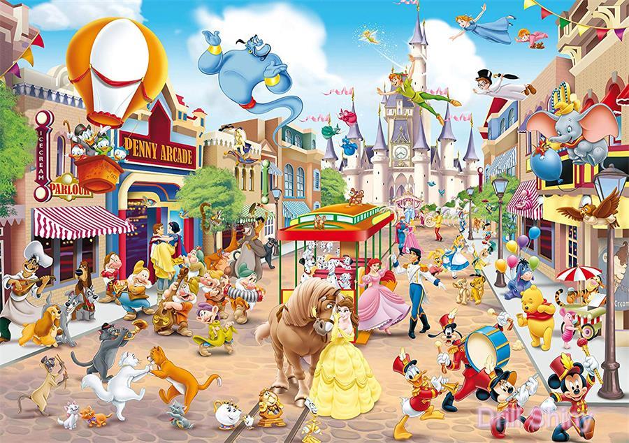 5D DIY pintura de diamante dibujos animados Mickey mouse personaje colección completa cuadrado bordado de diamantes Castillo punto de cruz regalo de mosaicos