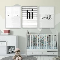 poster childrens room kids poster photo pictures baby room child nursery wall art posters and prints nordic black white canvas