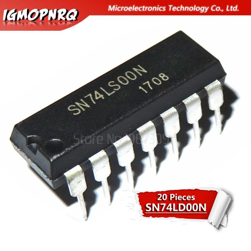 20 piezas Logic-puertas e inversores SN74LS00N SN74LS00 74LS00N 74LS00 DIP14 nuevo y original